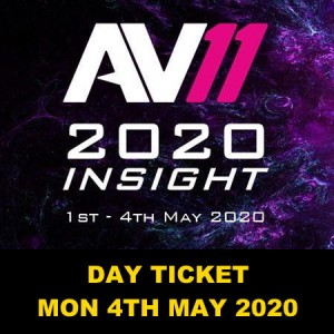 AV11 One Day Ticket (Incl Lunch and Dinner) - Mon 4th May 2019
